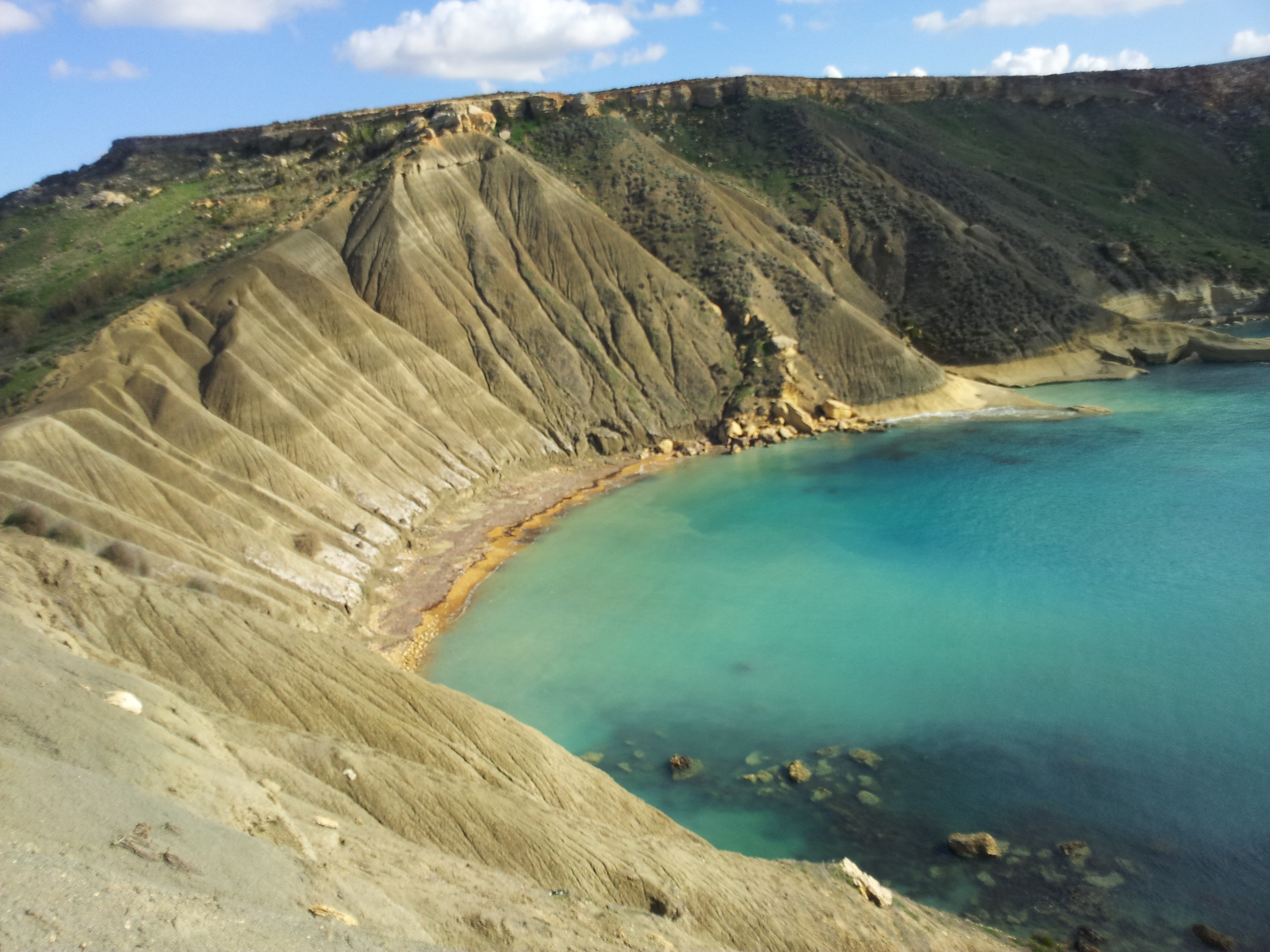 The spectacular Blue Clay slopes at Gnejna Bay, Malta. (Ritienne Gauci, 2014).